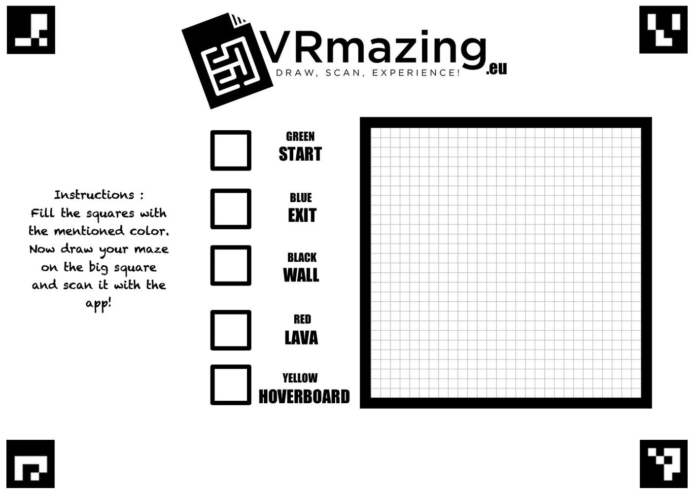 VRmazing Colorcard