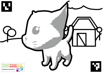 Tekentoverkist Cat Colorcard