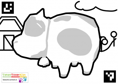 Tekentoverkist Cow Colorcard