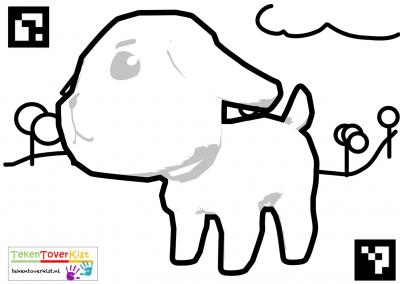 Tekentoverkist Dog Colorcard