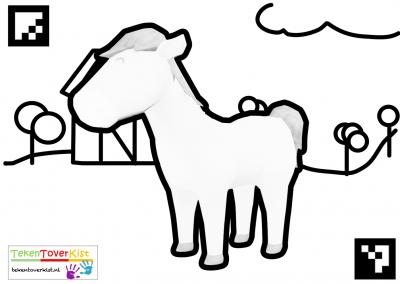 Tekentoverkist Horse Colorcard