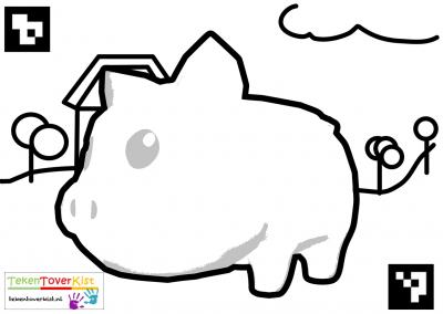 Tekentoverkist Pig Colorcard