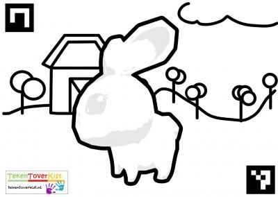 Tekentoverkist Rabbit Colorcard